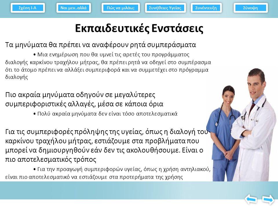 Συμπεριφοριστικές προσεγγίσεις στην αλλαγή των συνηθειών υγείας Δώστε στους σωστές πληροφορίες σχετικά με τις συνέπειες των ανεπαρκών συνηθειών υγείας