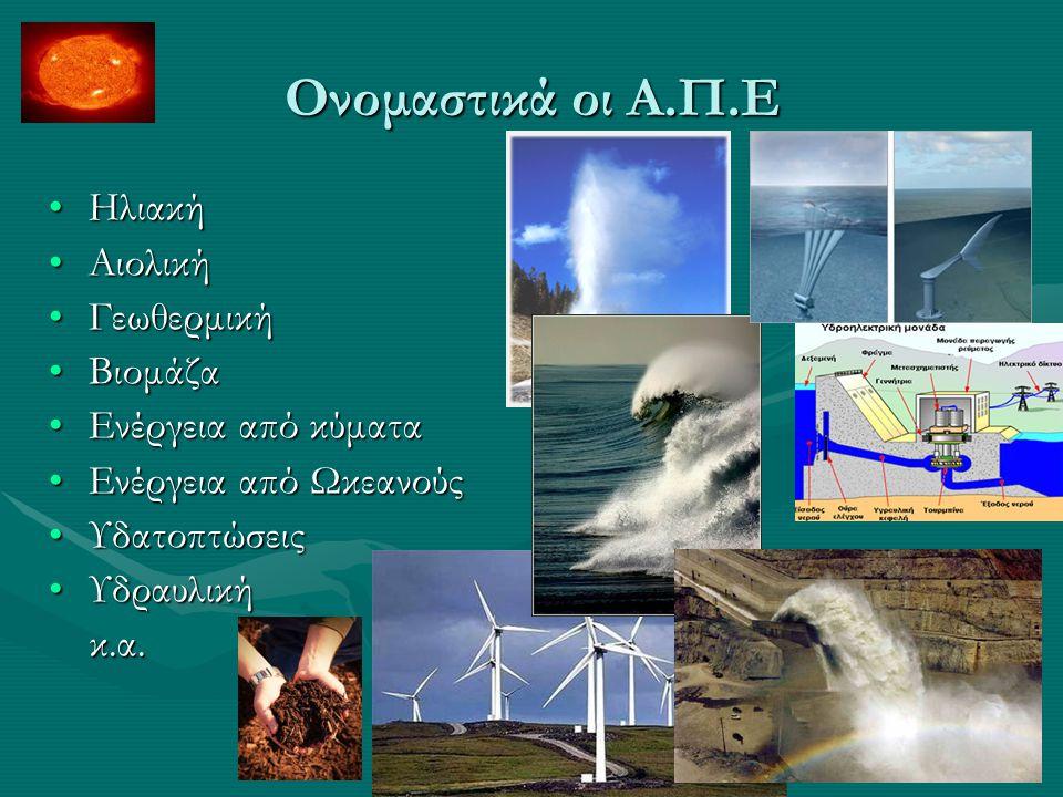 Αιολική Ενέργεια Η εκμετάλλευση της ενέργειας του ανέμου υπήρξε από την αρχαιότητα μια λύση για την κάλυψη των ενεργειακών αναγκών του ανθρώπου: ιστιοφόρα, ανεμόμυλοι κ.λ.π.