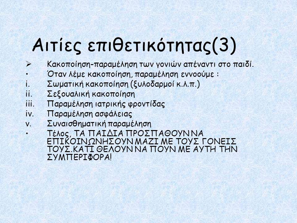 Παραπομπές i.http://grizosgatos.blogspot.com/2011/04/blog-post_2566.htmlhttp://grizosgatos.blogspot.com/2011/04/blog-post_2566.html ii.http://www.slideshare.net/dnaka/e-3897644http://www.slideshare.net/dnaka/e-3897644 iii.http://www.paidorama.com/%CE%95%CE%BA%CF%80%CE%B1%CE%AF%CE%B4%CE %B5%CF%85%CF%83%CE%B7/%CE%A3%CF%87%CE%BF%CE%BB%CE%B5%CE%AF %CE%BF/%CE%A4%CE%BF- %CF%86%CE%B1%CE%B9%CE%BD%CF%8C%CE%BC%CE%B5%CE%BD%CE%BF- %CF%84%CE%B7%CF%2-%CE%B2%CE%AF%CE%B1%CF%82- %CF%83%CF%84%CE%BF- %CE%B5%CE%BB%CE%BB%CE%B7%CE%BD%CE%B9%CE%BA%CF%8C- %CF%83%CF%87%CE%BF%CE%BB%CE%B5%CE%AF%CE%BF.htmlhttp://www.paidorama.com/%CE%95%CE%BA%CF%80%CE%B1%CE%AF%CE%B4%CE %B5%CF%85%CF%83%CE%B7/%CE%A3%CF%87%CE%BF%CE%BB%CE%B5%CE%AF %CE%BF/%CE%A4%CE%BF- %CF%86%CE%B1%CE%B9%CE%BD%CF%8C%CE%BC%CE%B5%CE%BD%CE%BF- %CF%84%CE%B7%CF%2-%CE%B2%CE%AF%CE%B1%CF%82- %CF%83%CF%84%CE%BF- %CE%B5%CE%BB%CE%BB%CE%B7%CE%BD%CE%B9%CE%BA%CF%8C- %CF%83%CF%87%CE%BF%CE%BB%CE%B5%CE%AF%CE%BF.html iv.http://www.iatronet.gr/article.asp?art_id=6022http://www.iatronet.gr/article.asp?art_id=6022 v.http://psychografimata.com/4092/pies-ine-i-nees-morfes-tis-scholikis-vias/http://psychografimata.com/4092/pies-ine-i-nees-morfes-tis-scholikis-vias/ vi.http://blogs.sch.gr/gymkoris/http://blogs.sch.gr/gymkoris/ vii.http://bpeiramatikogoneis.blogspot.com/2011/03/bullying.htmlhttp://bpeiramatikogoneis.blogspot.com/2011/03/bullying.html  Αρίστη Μελισσουργάκη Γ'4