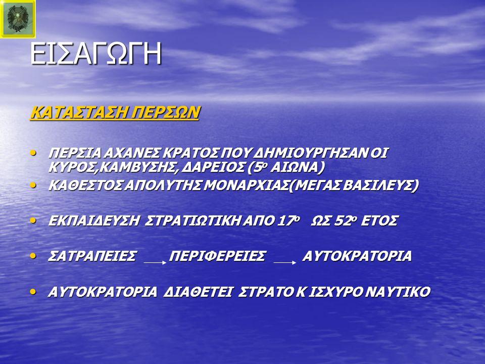 ΕΙΣΑΓΩΓΗ ΚΑΤΑΣΤΑΣΗ ΠΕΡΣΩΝ ΠΕΡΣΙΑ ΑΧΑΝΕΣ ΚΡΑΤΟΣ ΠΟΥ ΔΗΜΙΟΥΡΓΗΣΑΝ ΟΙ ΚΥΡΟΣ,ΚΑΜΒΥΣΗΣ, ΔΑΡΕΙΟΣ (5ο ΑΙΩΝΑ) ΚΑΘΕΣΤΟΣ ΑΠΟΛΥΤΗΣ ΜΟΝΑΡΧΙΑΣ(ΜΕΓΑΣ ΒΑΣΙΛΕΥΣ) ΕΚΠΑΙΔΕΥΣΗ ΣΤΡΑΤΙΩΤΙΚΗ ΑΠΟ 17ο ΩΣ 52ο ΕΤΟΣ ΣΑΤΡΑΠΕΙΕΣ ΠΕΡΙΦΕΡΕΙΕΣ ΑΥΤΟΚΡΑΤΟΡΙΑ ΑΥΤΟΚΡΑΤΟΡΙΑ ΔΙΑΘΕΤΕΙ ΣΤΡΑΤΟ Κ ΙΣΧΥΡΟ ΝΑΥΤΙΚΟ