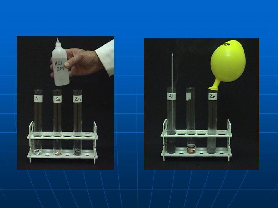 ΠΑΡΑΤΗΡΗΣΕΙΣ 1.Η αντίδραση με το αργίλιο καθυστερεί περίπου 5 με 6 λεπτά.