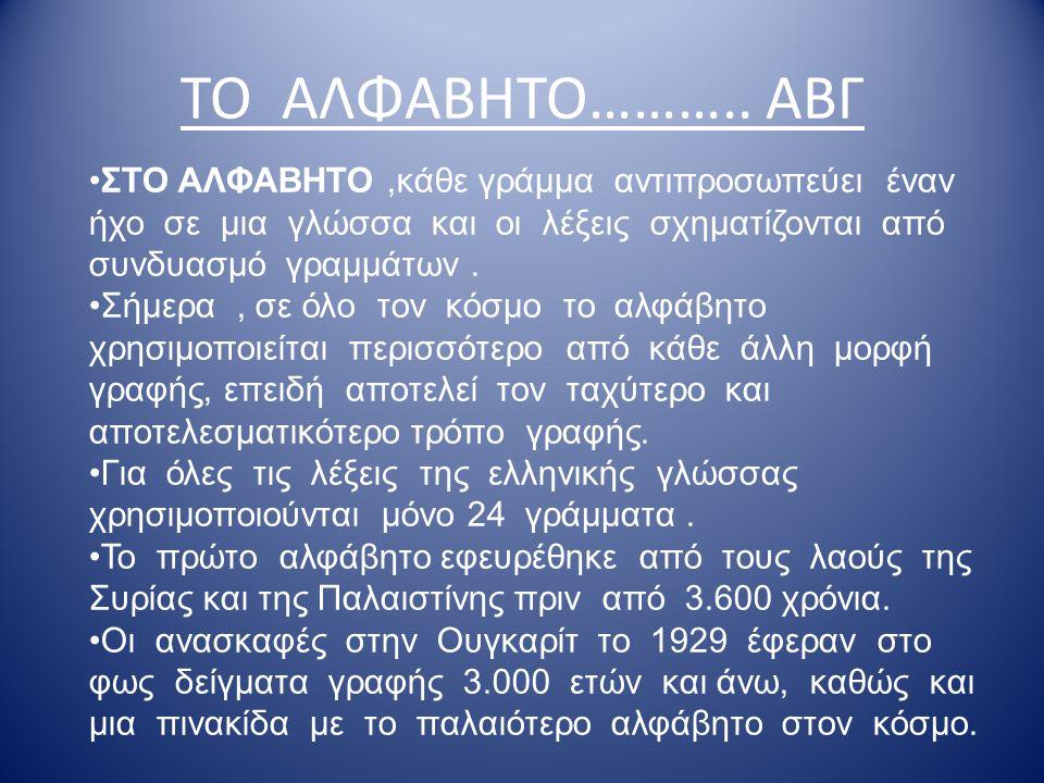 ΙΕΡΟΓΛΥΦΙΚΑ