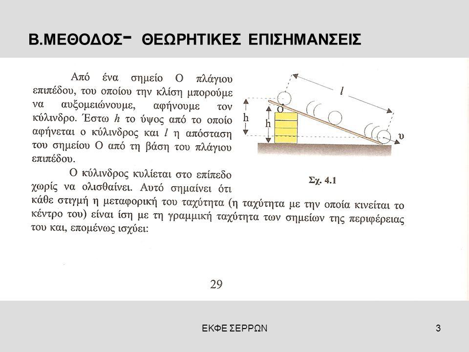 ΕΚΦΕ ΣΕΡΡΩΝ3 Β.ΜΕΘΟΔΟΣ - ΘΕΩΡΗΤΙΚΕΣ ΕΠΙΣΗΜΑΝΣΕΙΣ