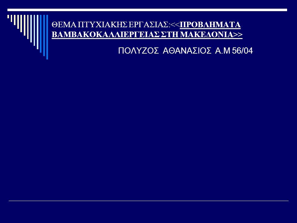 ΘΕΜΑ ΠΤΥΧΙΑΚΗΣ ΕΡΓΑΣΙΑΣ: > ΠΟΛΥΖΟΣ ΑΘΑΝΑΣΙΟΣ Α.Μ 56/04