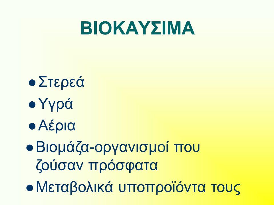 Μέθοδοι ενεργειακής αξιοποίησης βιομάζας Βιοχημικές διεργασίες Αερόβια ζύμωση Αναερόβια ζύμωση