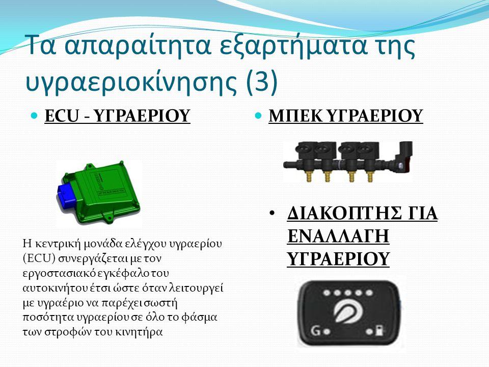 Τα απαραίτητα εξαρτήματα της υγραεριοκίνησης (3) ECU - ΥΓΡΑΕΡΙΟΥ ΜΠΕΚ ΥΓΡΑΕΡΙΟΥ Η κεντρική μονάδα ελέγχου υγραερίου (ECU) συνεργάζεται με τον εργοστασ