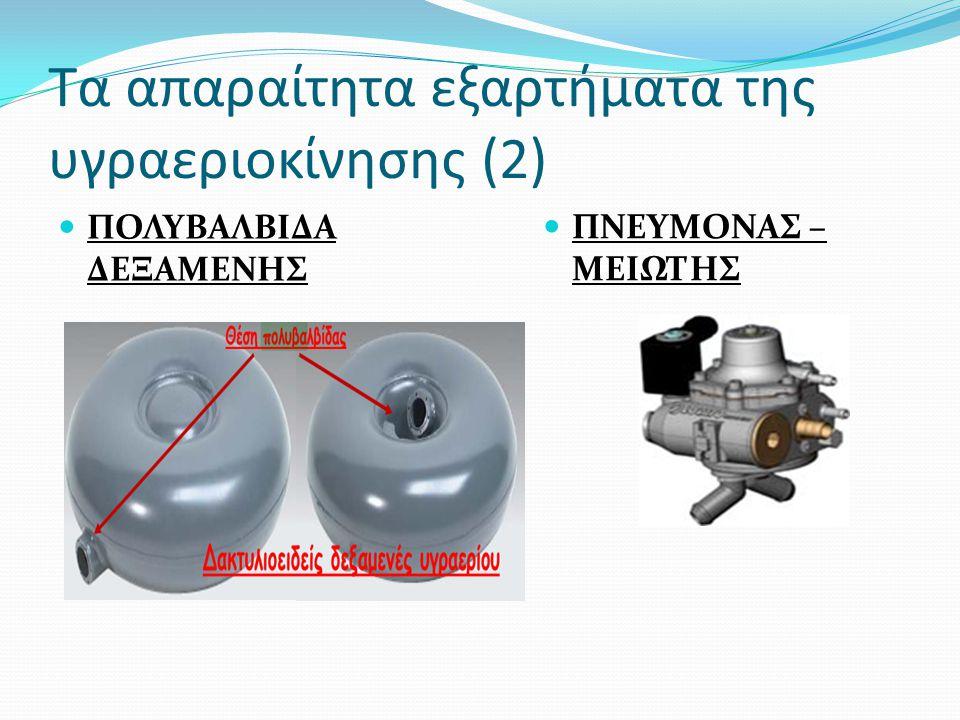 Τα απαραίτητα εξαρτήματα της υγραεριοκίνησης (2) ΠΟΛΥΒΑΛΒΙΔΑ ΔΕΞΑΜΕΝΗΣ ΠΝΕΥΜΟΝΑΣ – ΜΕΙΩΤΗΣ
