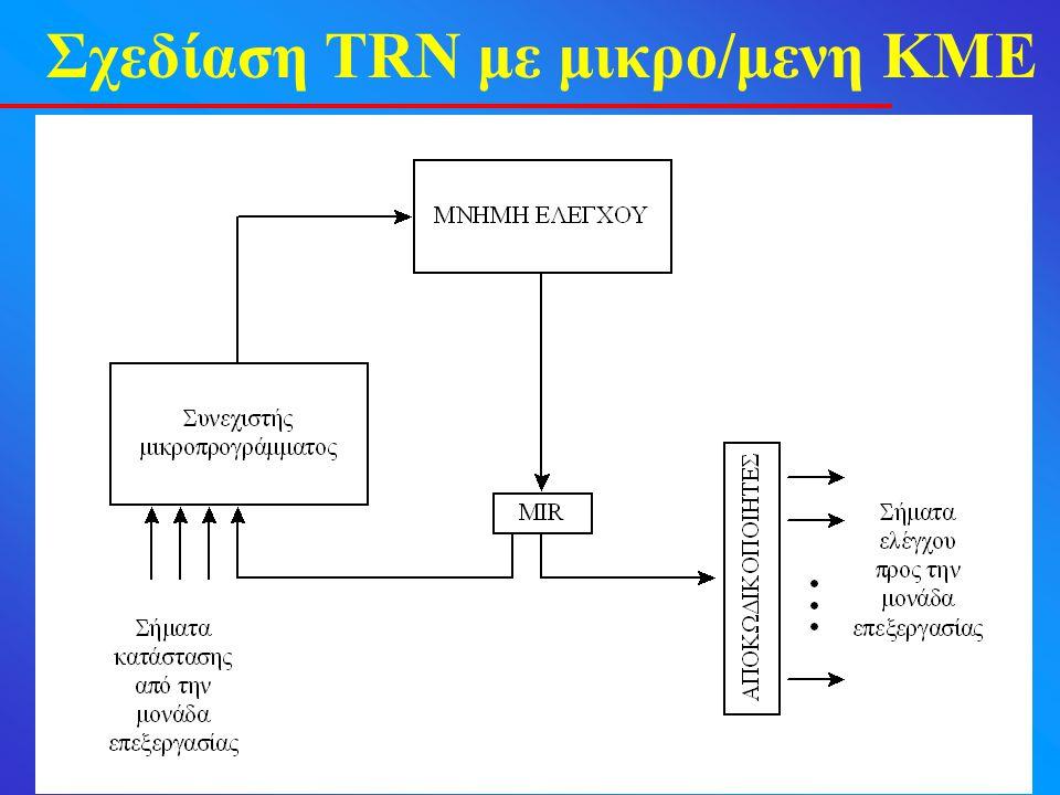 Σχεδίαση TRN με μικρο/μενη ΚΜΕ