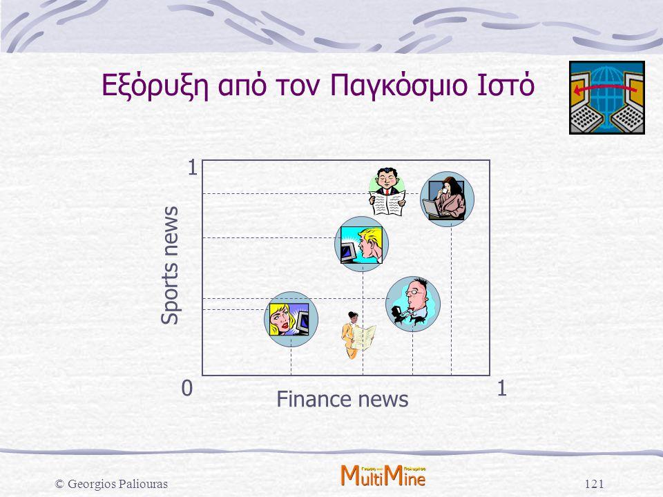 © Georgios Paliouras121 Finance news Sports news 01 1 Εξόρυξη από τον Παγκόσμιο Ιστό