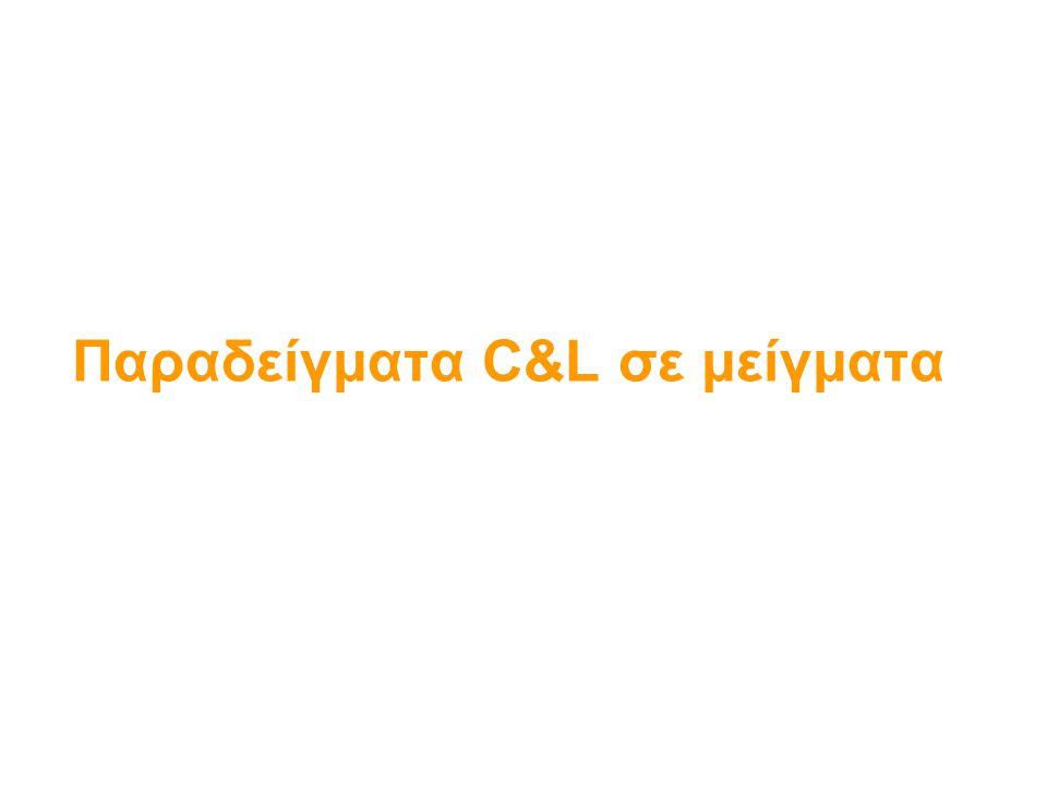 Παραδείγματα C&L σε μείγματα