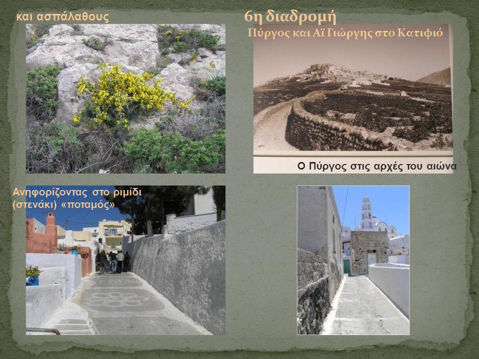 και ασπάλαθους 6η διαδρομή Πύργος και Αϊ Γιώργης στο Κατιφιό Ο Πύργος στις αρχές του αιώνα Ανηφορίζοντας στο ριμίδι (στενάκι) «ποταμός»