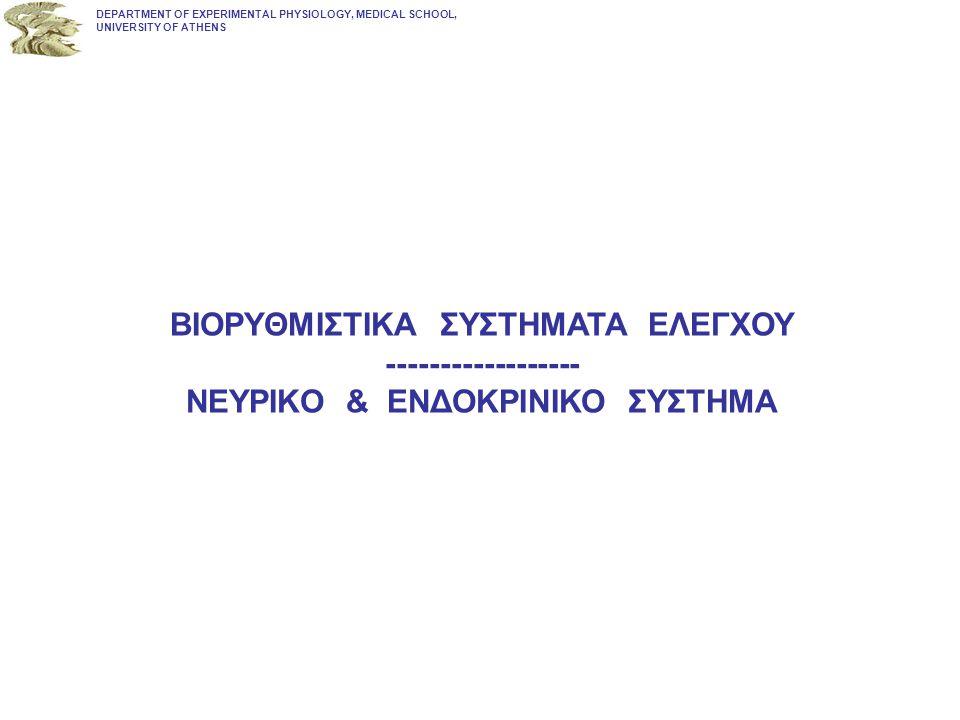 DEPARTMENT OF EXPERIMENTAL PHYSIOLOGY, MEDICAL SCHOOL, UNIVERSITY OF ATHENS ΠΑΡΑΔΕΙΓΜΑ ΕΣΩΚΡΙΝΙΚΗΣ ΔΡΑΣΗΣ ΚΑΙ ΠΑΡΑΓΩΓΗΣ ΟΙΣΤΡΟΓΟΝΩΝ & ΑΝΔΡΟΓΟΝΩΝ ΕΝΔΟΪΣΤΙΚΑ
