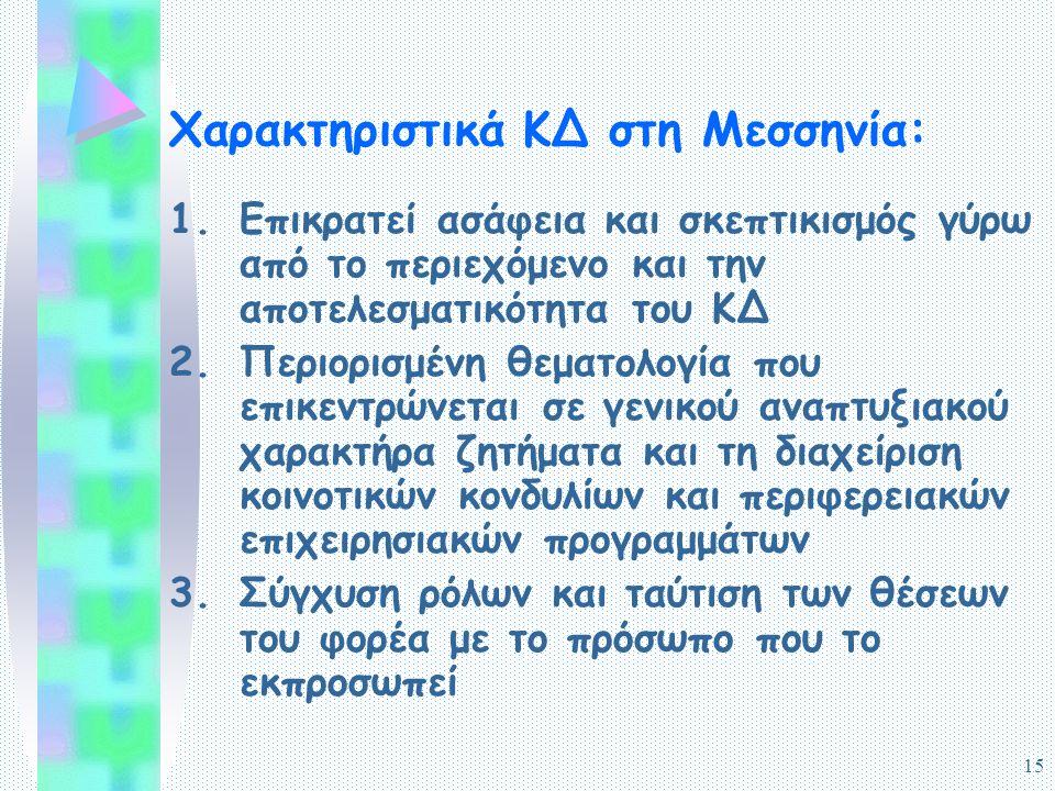 16 Χαρακτηριστικά ΚΔ στη Μεσσηνία: 4.