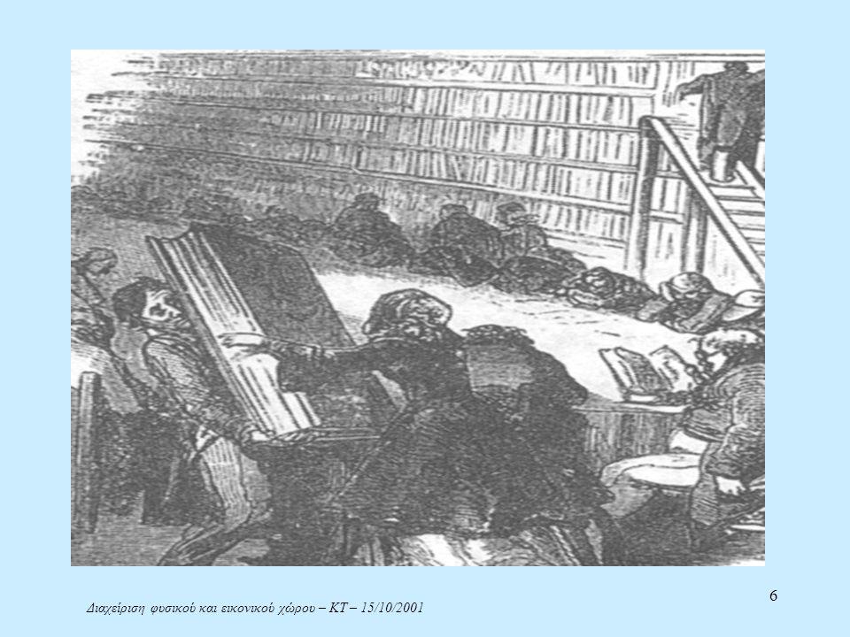 Διαχείριση φυσικού και εικονικού χώρου – ΚΤ – 15/10/2001 17 Το σύστημα δικτυωμένων βιβλιοθηκώνΤΕΕ