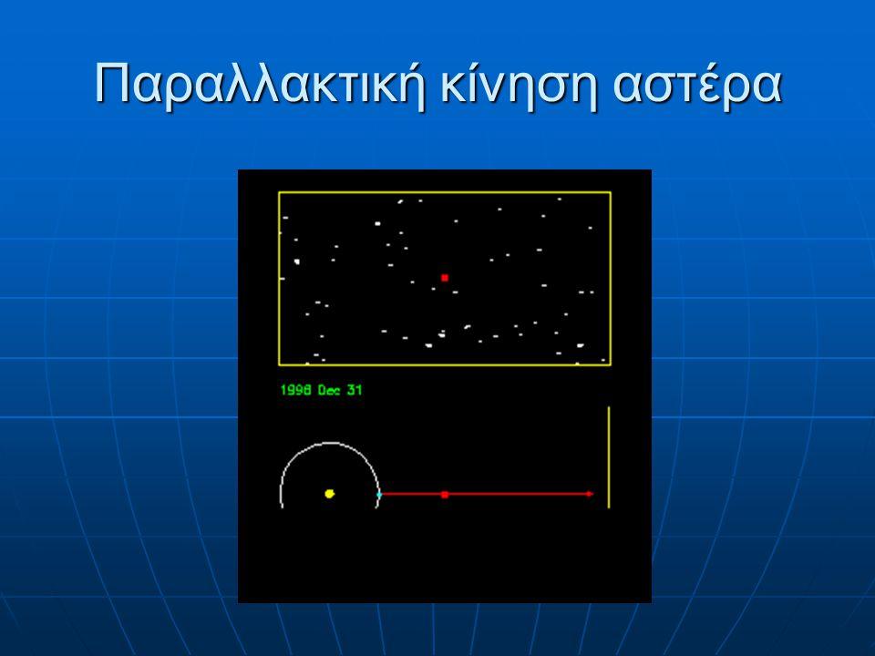 ΑΣΤΡΙΚΕΣ ΜΑΖΕΣ Η μάζα ενός αστέρα μπορεί να μετρηθεί μόνο για ζεύγη αστέρων, με τη βοήθεια του 3ου νόμου του Κέπλερ Η μάζα ενός αστέρα μπορεί να μετρηθεί μόνο για ζεύγη αστέρων, με τη βοήθεια του 3ου νόμου του Κέπλερ A 3 /P 2 = M 1 + M 2 όπου A είναι ο μεγάλος ημιάξονας της σχετικής τροχιάς (σε A.U.), P η περίοδος (σε έτη) και M 1,2 οι μάζες των δύο μελών (σε ηλιακές μάζες) όπου A είναι ο μεγάλος ημιάξονας της σχετικής τροχιάς (σε A.U.), P η περίοδος (σε έτη) και M 1,2 οι μάζες των δύο μελών (σε ηλιακές μάζες)
