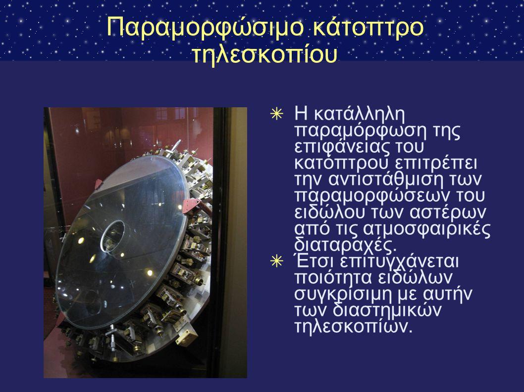 Παραμορφώσιμο κάτοπτρο τηλεσκοπίου ✴ Η κατάλληλη παραμόρφωση της επιφάνειας του κατόπτρου επιτρέπει την αντιστάθμιση των παραμορφώσεων του ειδώλου των