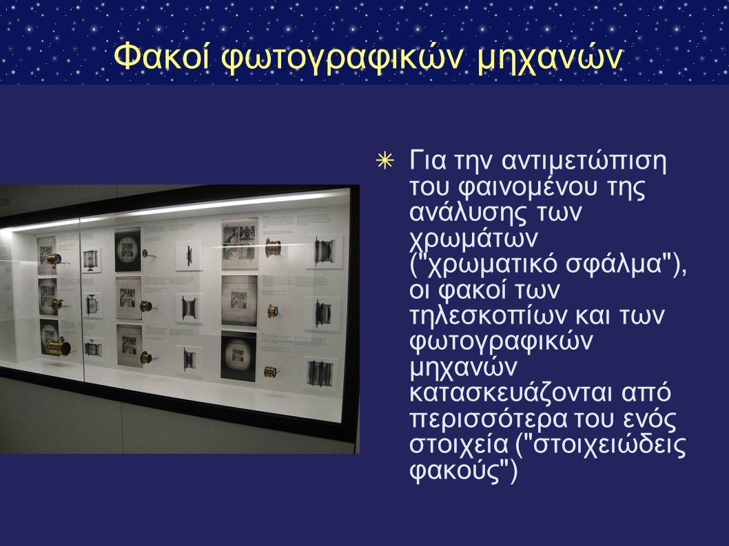 Φακοί φωτογραφικών μηχανών ✴ Για την αντιμετώπιση του φαινομένου της ανάλυσης των χρωμάτων (