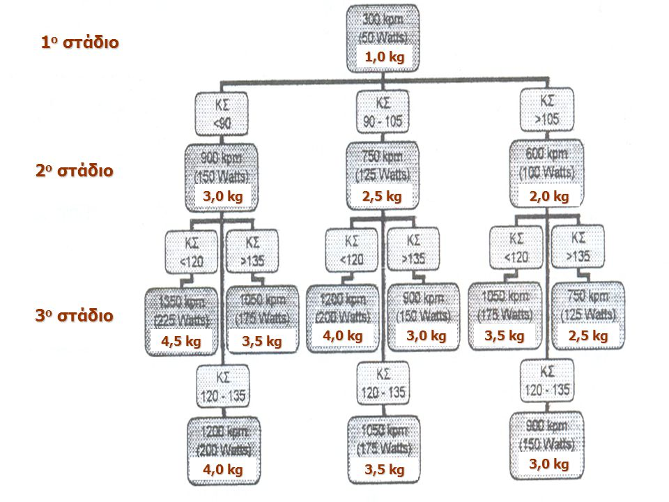 1 ο στάδιο 2 ο στάδιο 3 ο στάδιο 3,0 kg 4,5 kg 2,0 kg 2,5 kg 3,5 kg 4,0 kg 3,0 kg 3,5 kg 2,5 kg 4,0 kg 3,5 kg 3,0 kg 1,0 kg