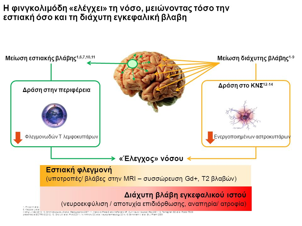 1.Filippi M et al. Lancet Neurol 2012; 2. Kutzelnigg A et al.
