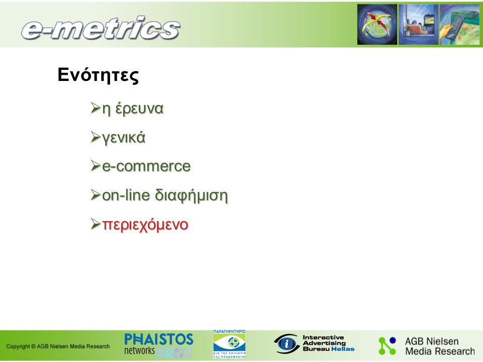 Χρήση internet Βάση: Όσοι συμμετείχαν στην e-metrics