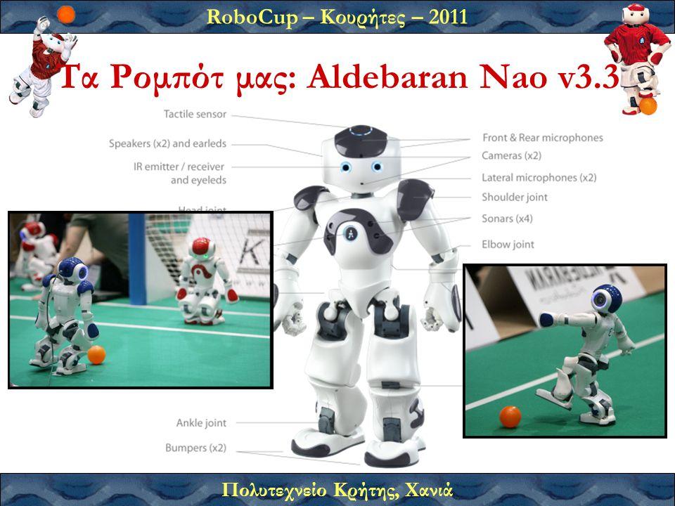 RoboCup – Κουρήτες – 2011 Πολυτεχνείο Κρήτης, Χανιά Τα Ρομπότ μας: Aldebaran Nao v3.3