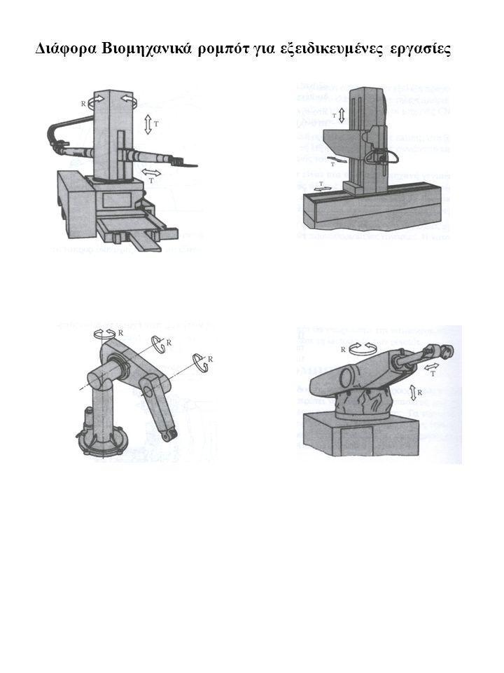 Διάφορα Βιομηχανικά ρομπότ για εξειδικευμένες εργασίες