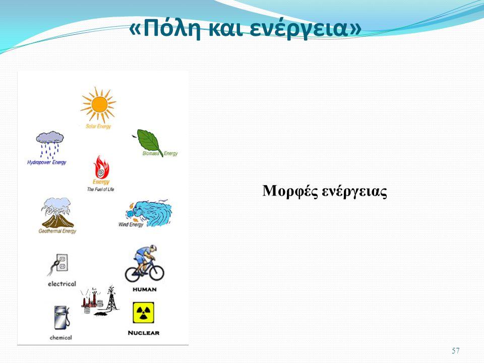«Πόλη και ενέργεια» 56 Τι είναι η ενέργεια;