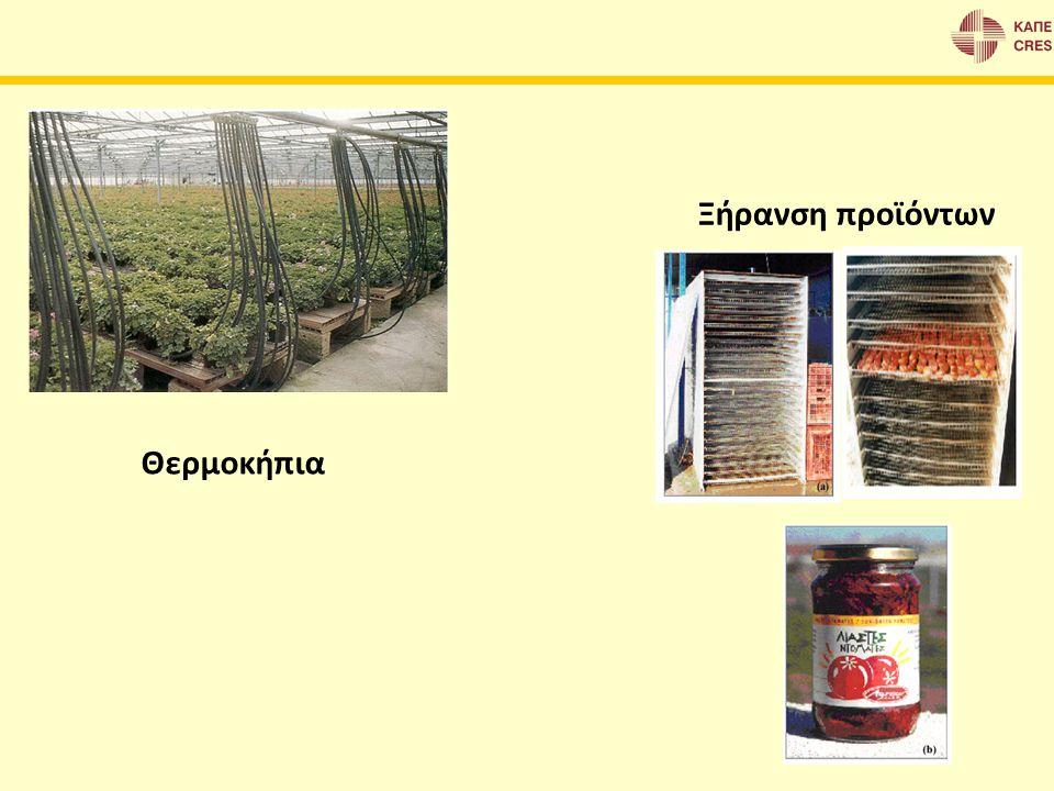 Θερμοκήπια Ξήρανση προϊόντων