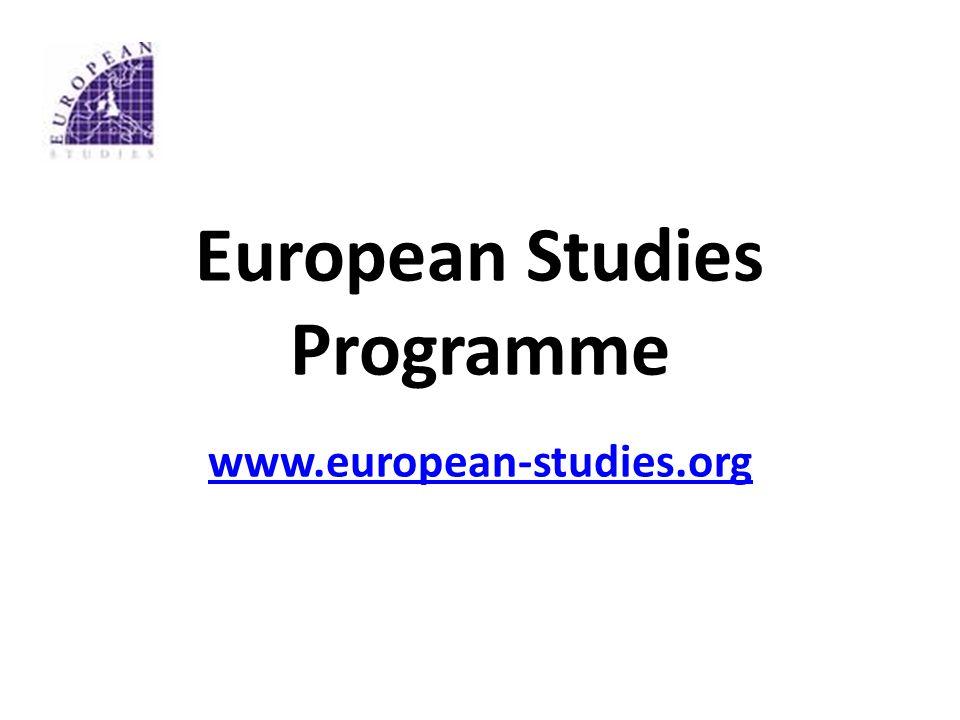 European Studies Programme www.european-studies.org www.european-studies.org