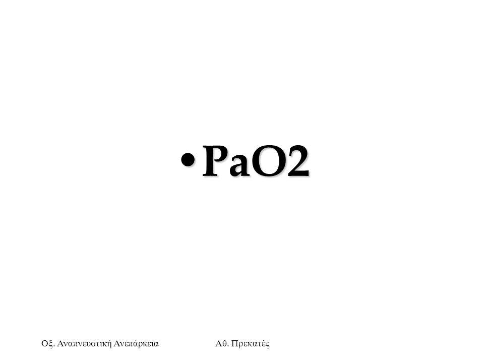 Οξ. Αναπνευστική ΑνεπάρκειαΑθ. Πρεκατές PaO2 PaO2