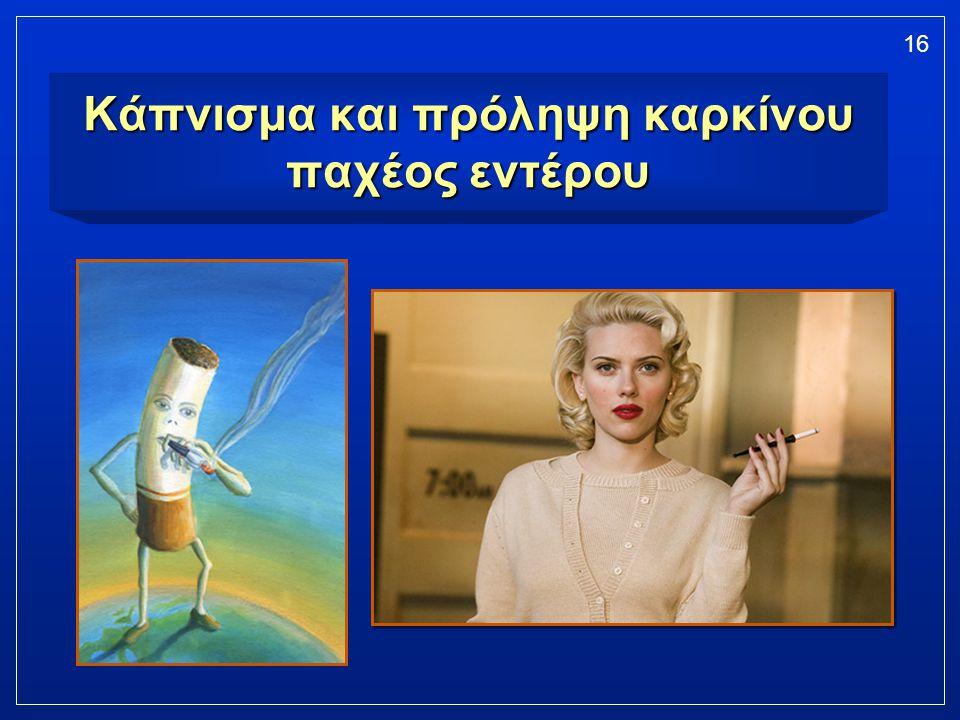 16 Κάπνισμα και πρόληψη καρκίνου παχέος εντέρου