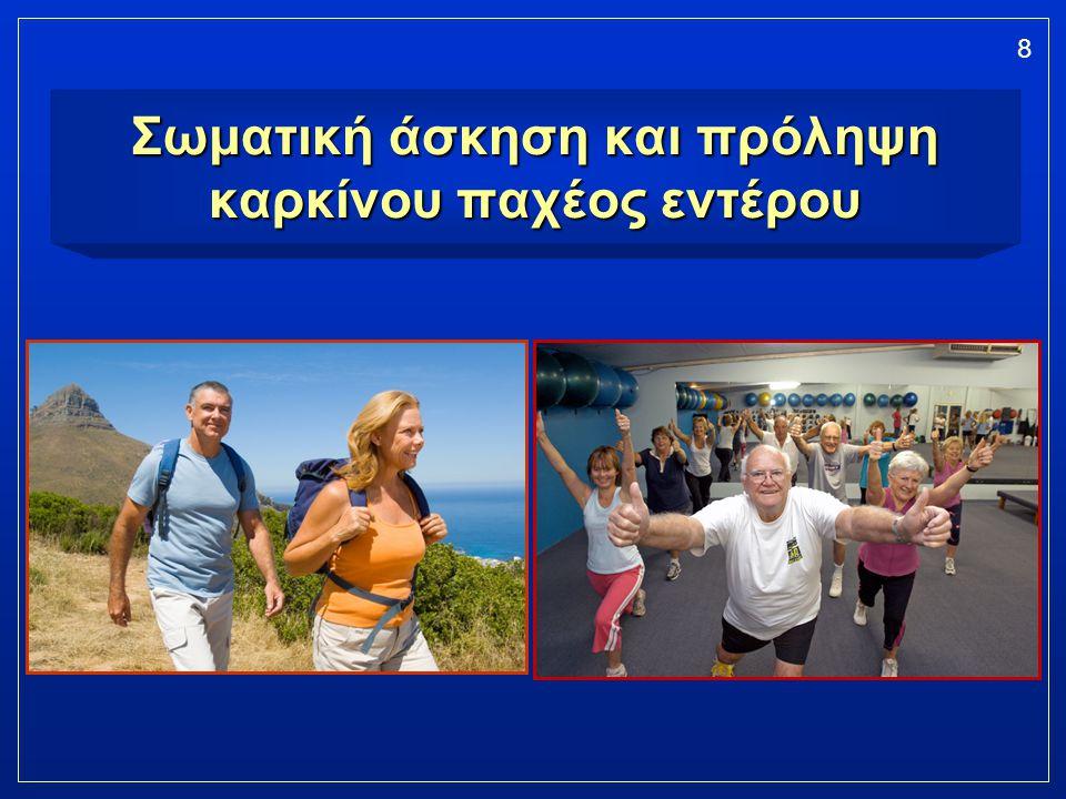 8 Σωματική άσκηση και πρόληψη καρκίνου παχέος εντέρου