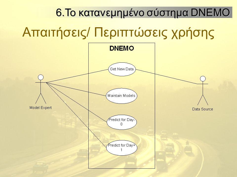 Απαιτήσεις/ Περιπτώσεις χρήσης 6.Το κατανεμημένο σύστημα DNEMO