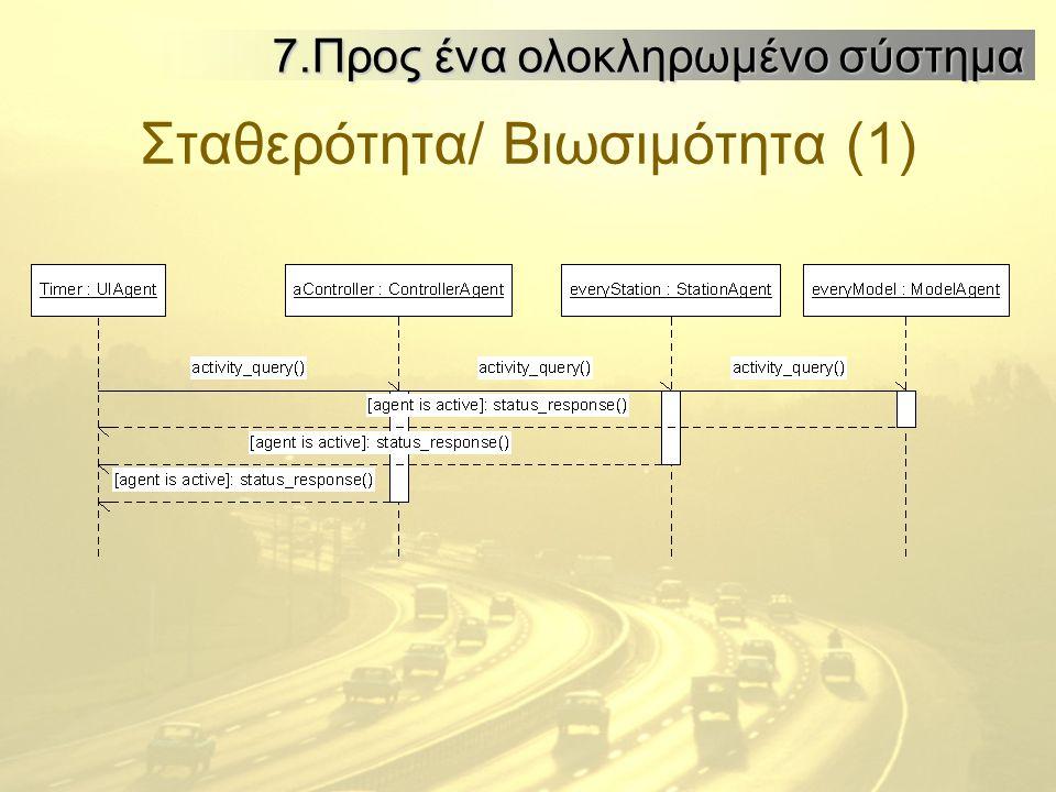 Σταθερότητα/ Βιωσιμότητα (1) 7.Προς ένα ολοκληρωμένο σύστημα