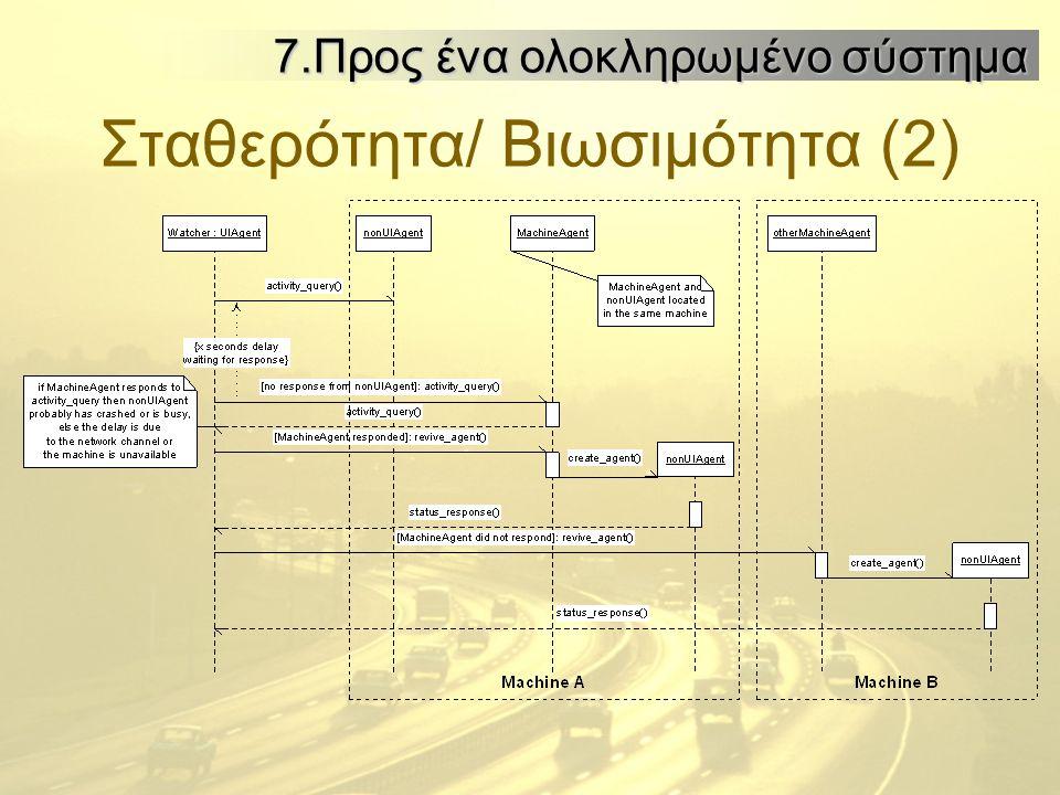 Σταθερότητα/ Βιωσιμότητα (2) 7.Προς ένα ολοκληρωμένο σύστημα