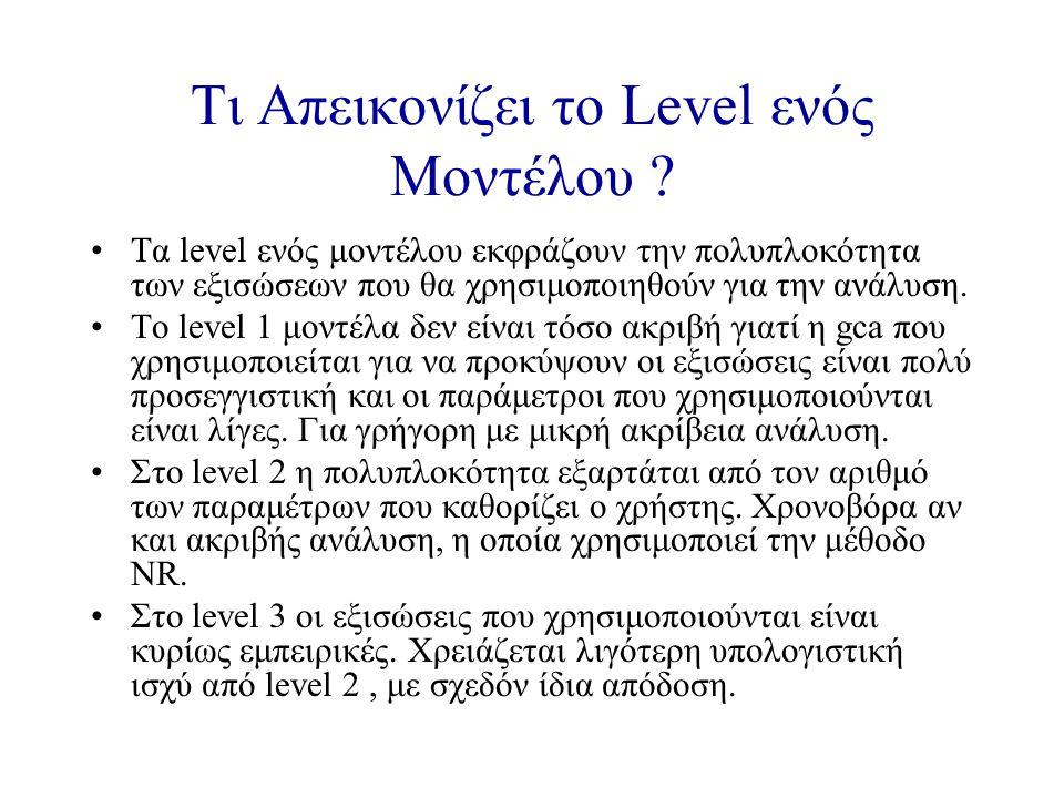 Τι Απεικονίζει το Level ενός Μοντέλου .