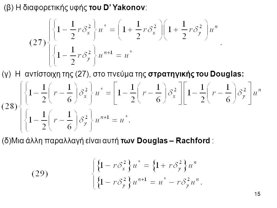 15 (β) Η διαφορετικής υφής του D' Yakonov: (γ) Η αντίστοιχη της (27), στο πνεύμα της στρατηγικής του Douglas: (δ)Μια άλλη παραλλαγή είναι αυτή των Dou