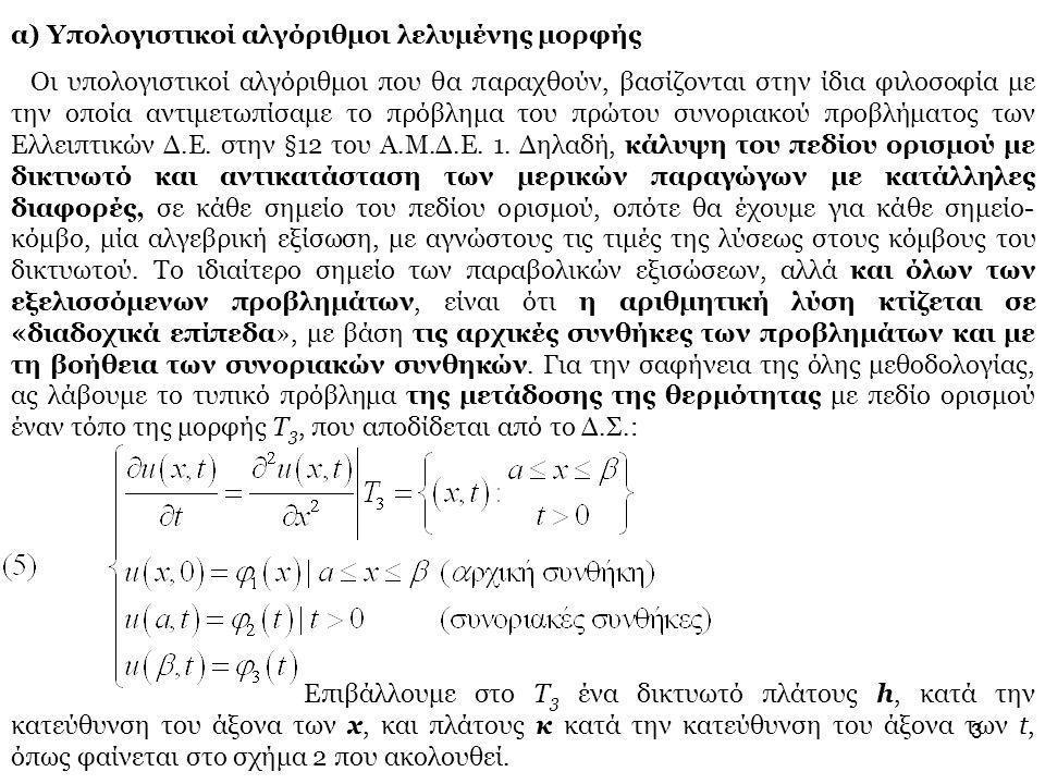 3 α) Υπολογιστικοί αλγόριθμοι λελυμένης μορφής Οι υπολογιστικοί αλγόριθμοι που θα παραχθούν, βασίζονται στην ίδια φιλοσοφία με την οποία αντιμετωπίσαμ