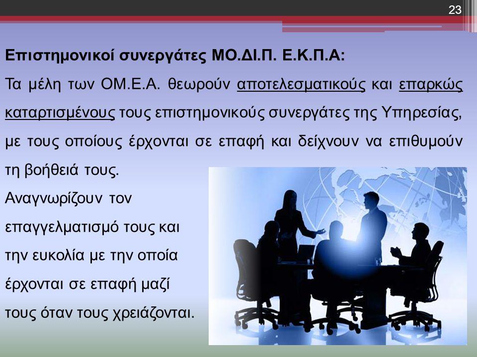 Επιστημονικοί συνεργάτες ΜΟ.ΔΙ.Π. Ε.Κ.Π.Α: Τα μέλη των ΟΜ.Ε.Α.