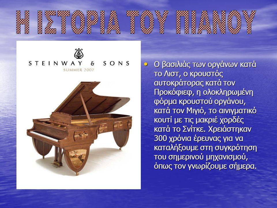 Το πιάνο βρίσκεται στις πιο παλιές καινοτομίες της τεχνολογίας.
