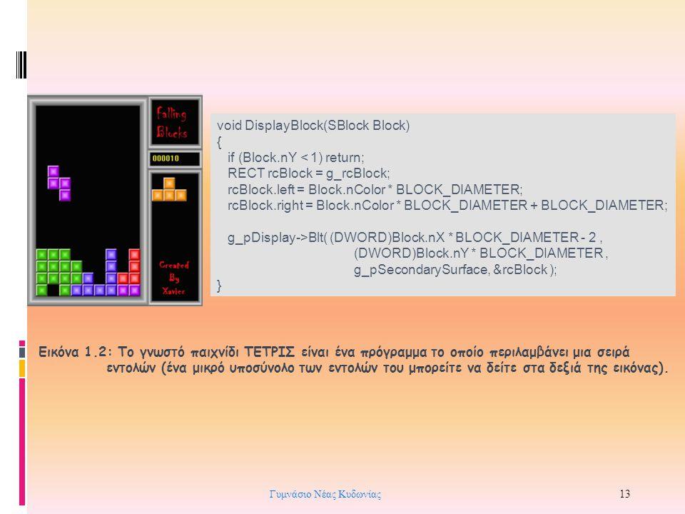 void DisplayBlock(SBlock Block) { if (Block.nY < 1) return; RECT rcBlock = g_rcBlock; rcBlock.left = Block.nColor * BLOCK_DIAMETER; rcBlock.right = Bl