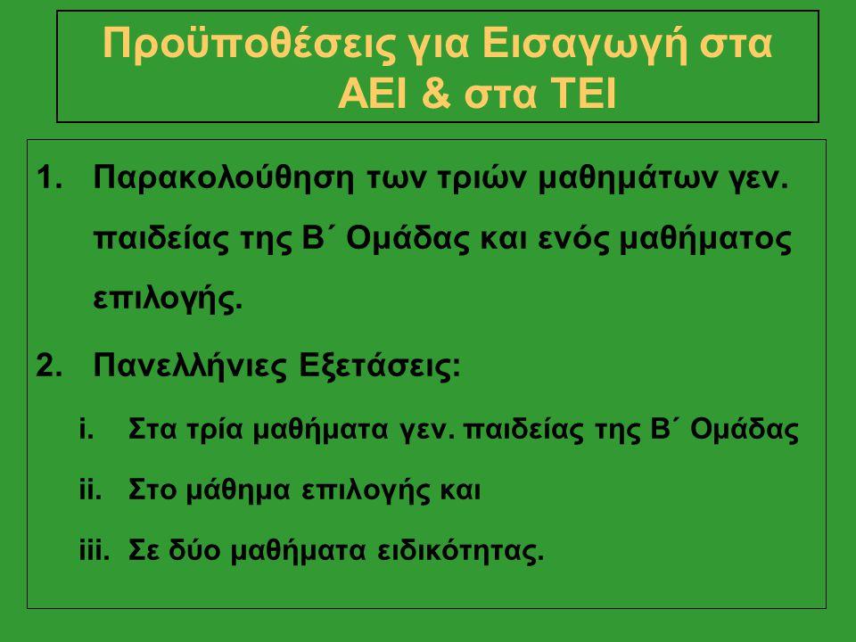 Μαθηματικά Ι X 1,5: 200 X 1,5 = 300 Νεοελληνική Γλώσσα Χ 1,5: 200 X 1,5 = 300 1ο Μάθημα Ειδικότητας Χ 3,5: 200 Χ 3,5 = 700 2ο Μάθημα Ειδικότητας Χ 3,5