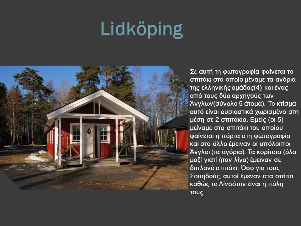 Lidköping Σε αυτή τη φωτογραφία φαίνεται το σπιτάκι στο οποίο μέναμε τα αγόρια της ελληνικής ομάδας(4) και ένας από τους δύο αρχηγούς των Άγγλων(σύνολο 5 άτομα).