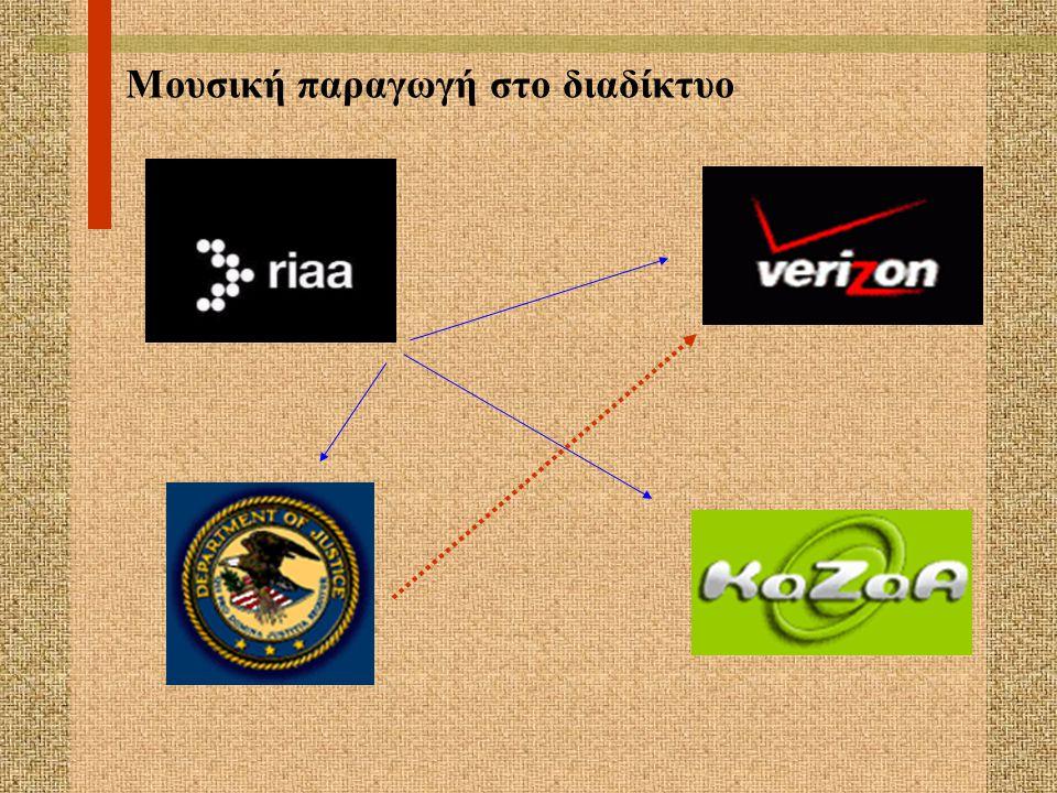DMCA 2000 Πηγές Ελληνικού & Ευρωπαικού δικαίου ζητούν, εξασφαλίζουν την έκδοση εντάλματος προς τους ISP χωρίς να απαιτείται η εμπλοκή δικαστή κάτοχοι πνευματικών δικαιωμάτων  θεωρούνται παράνομες έαν παρακάμπτουν τις τεχνικές προστασίας έργων κατασκευή και διανομή τεχνολογίας ή υπηρεσιών
