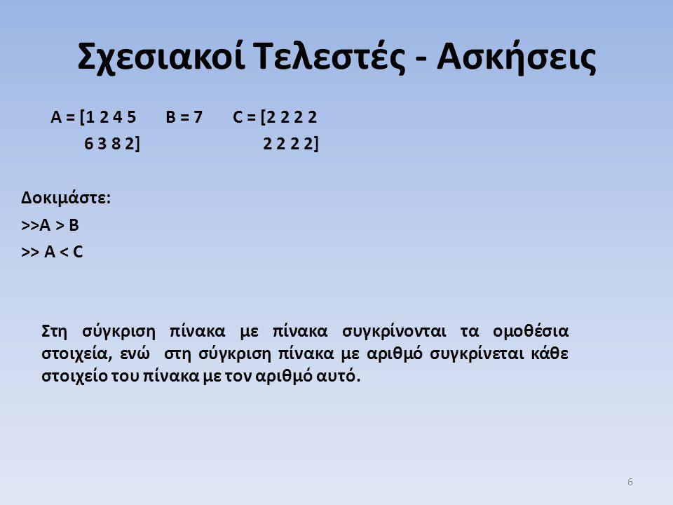 Εντολές Συνθήκης - Δομή Η Δομή της εντολής: elseif είναι μια λέξη.