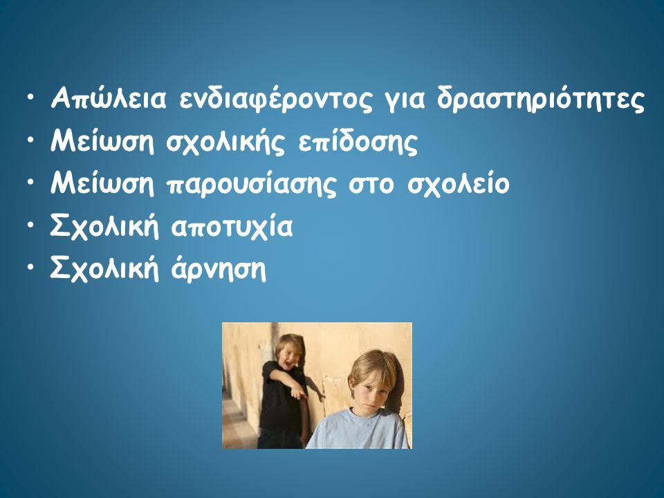 Ψυχωτικά συμπτώματα Κατάθλιψη Άγχος Φοβίες Ανασφάλεια