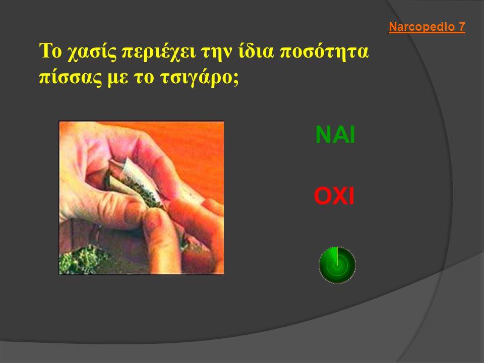 Το χασίς περιέχει την ίδια ποσότητα πίσσας με το τσιγάρο; ΝΑΙ ΟΧΙ Narcopedio 7