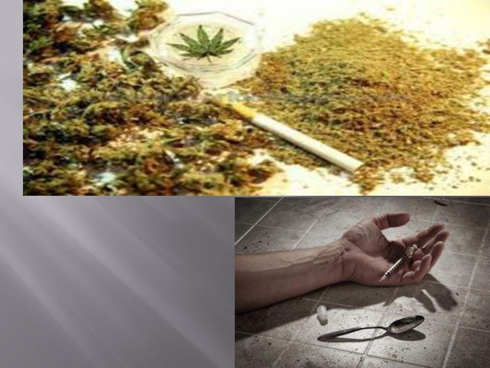  1) Ινδική κάνναβις  Η μαριχουάνα / χασίς επηρεάζει τη μνήμη, την κρίση και την αντίληψη.