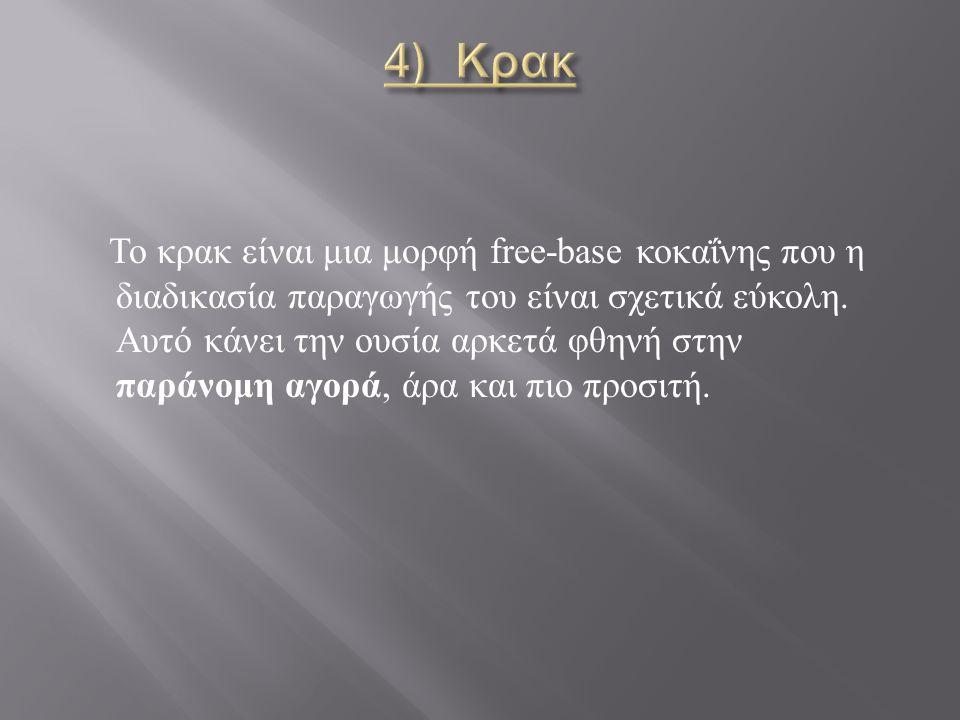 Το κρακ είναι μια μορφή free-base κοκαΐνης που η διαδικασία παραγωγής του είναι σχετικά εύκολη.