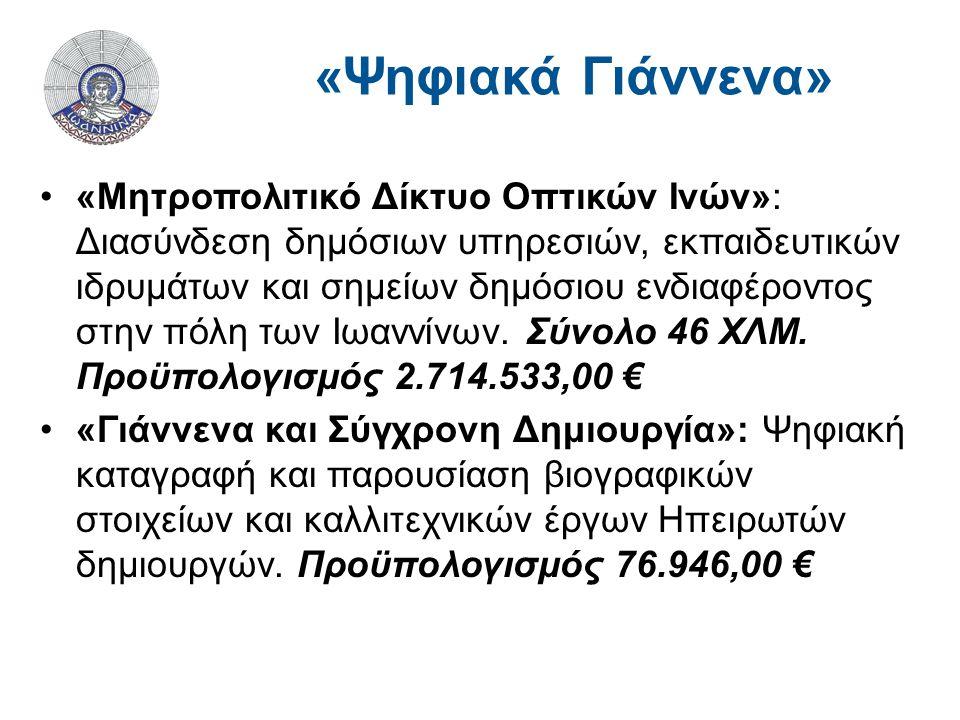 «Μητροπολιτικό Δίκτυο Οπτικών Ινών»: Διασύνδεση δημόσιων υπηρεσιών, εκπαιδευτικών ιδρυμάτων και σημείων δημόσιου ενδιαφέροντος στην πόλη των Ιωαννίνων